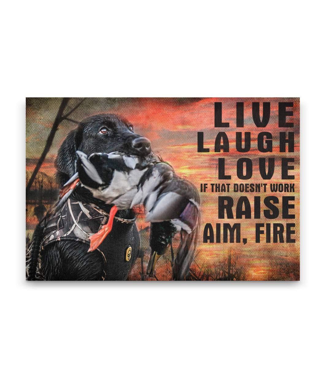 Raise - New sales Aim Fire Print Canvas Sign Wall Art Cheap sale Anni Poster Framed