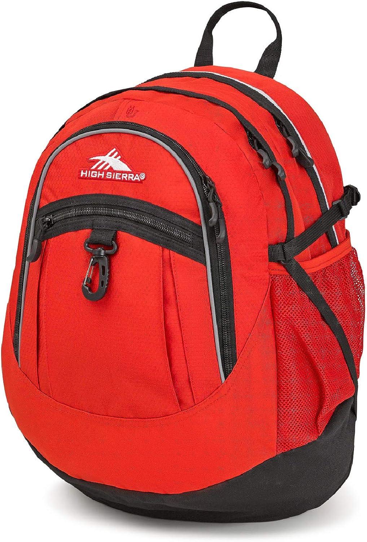 High Sierra Fatboy Backpack, Crimson Black
