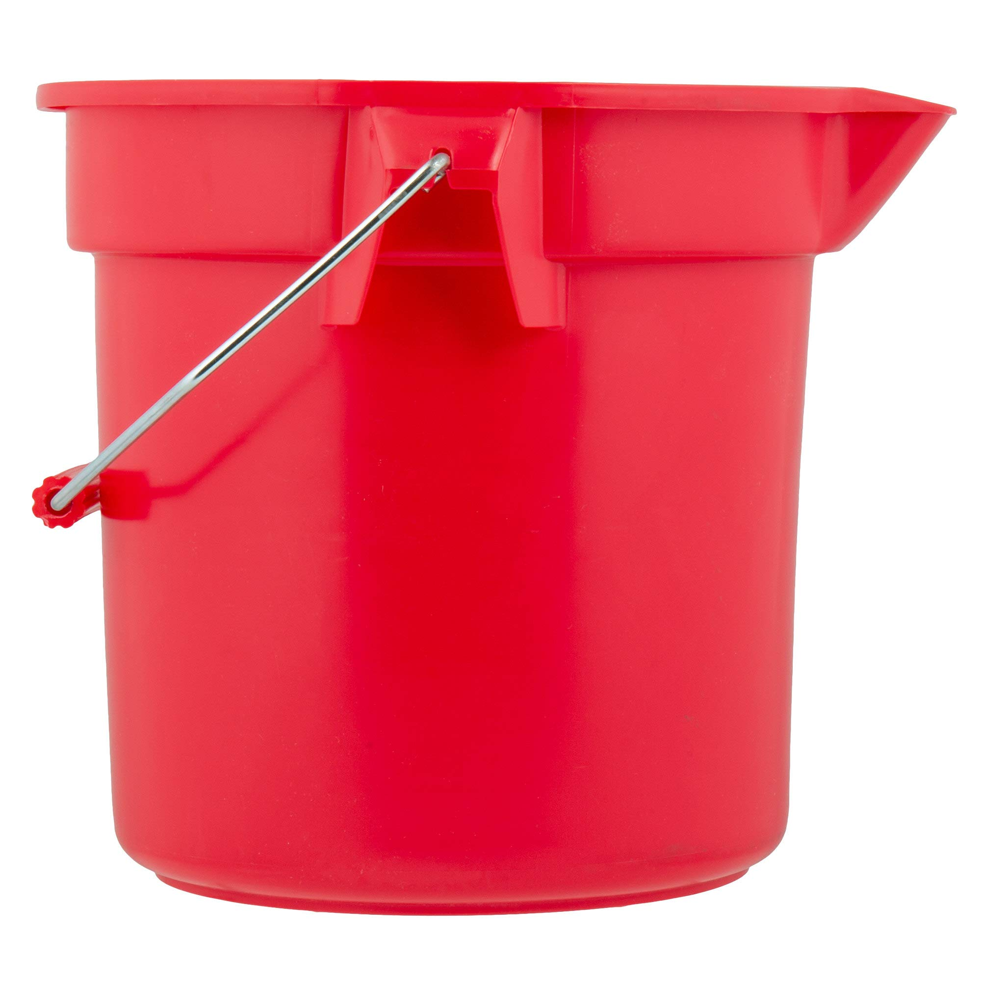 Rubbermaid Commercial Products 2.5 Gallon Brute Heavy-Duty, Corrosive-Resistant, Round Bucket, Red FG296300RED