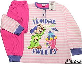 99c64d442a Disney Pigiama Bimba Puro Cotone Manica Pantalone Lungo Cucciolo 10 Anni  22511B