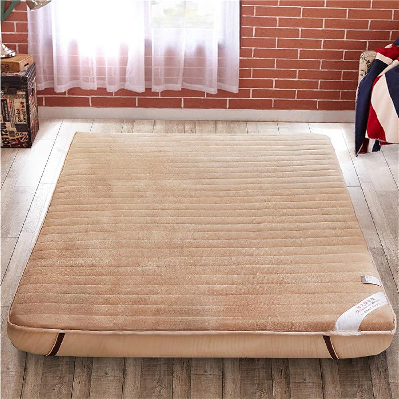 Folding Thickened Tatami Mattress, Dampproof Keep Warm Mattress Topper Anti-Slip Soft Ground Floor Sleeping pad-B 90x200cm(35x79inch)