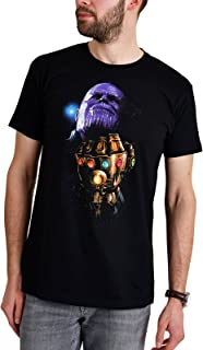 Avengers Camiseta para Hombre Thanos Gauntlet Infinity Was Marvel Elven Forest algodón Negro