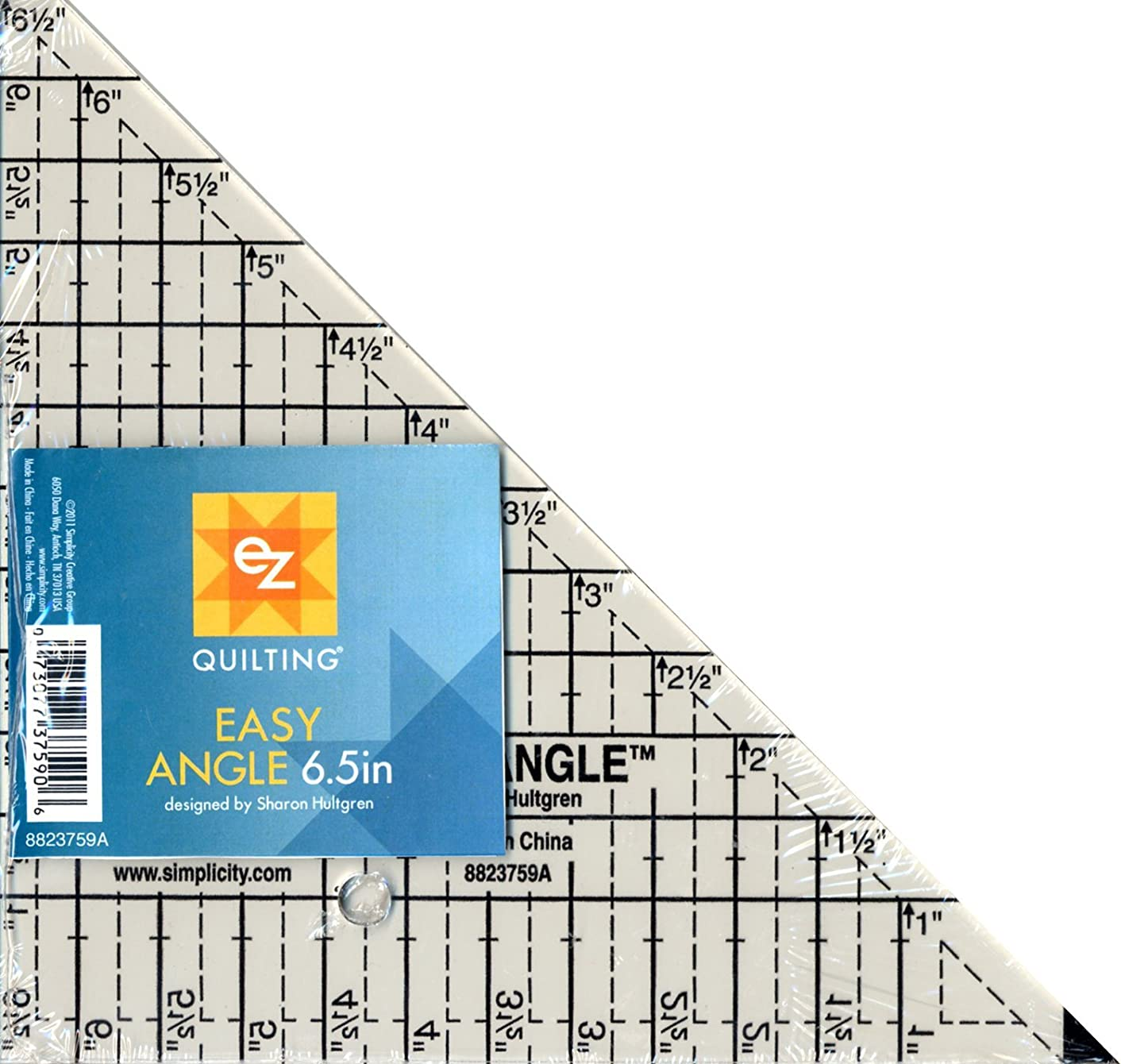 EZ Quilting Easy Angle Ruler Sharon Hultgren 6.5 Inch