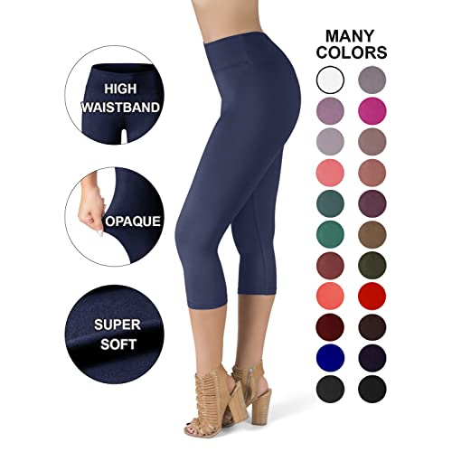 7fe0d6f672caa SATINA High Waisted Super Soft Capri Leggings - 20 Colors - Reg & Plus Size