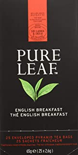 Pure Leaf Té negro premium English Breakfast - 2 cajas de 25 pirámides (Total 50 pirámides)