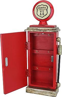 Design Toscano  Route 66 Gas Pump Big Boy Toy Key Cabinet, 19 Inch, full color