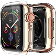 Smiling Clear Case for Apple Watch Series 4 40mm With Buit in TPU Screen Protector - All Around...