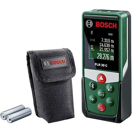 Bosch télémètre laser PLR 30 C (avec application dédiée, portée : 0,05–30 m, précision : ± 2 mm, dans boîte en carton)