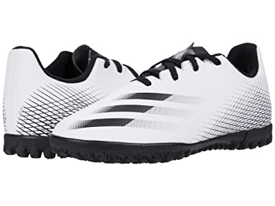 adidas Kids X Ghosted.4 TF J Soccer (Little Kid/Big Kid) (Footwear White/Core Black/Silver Metallic) Kids Shoes
