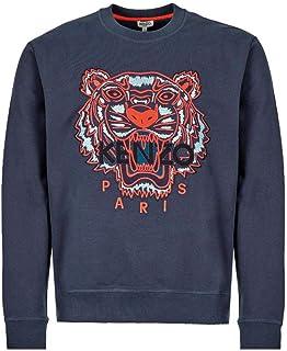 Kenzo Mens Tiger Head Sweatshirt L Ink Blue