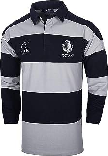 Scotland Longsleeve Striped Rugby Jersey (L), Navy