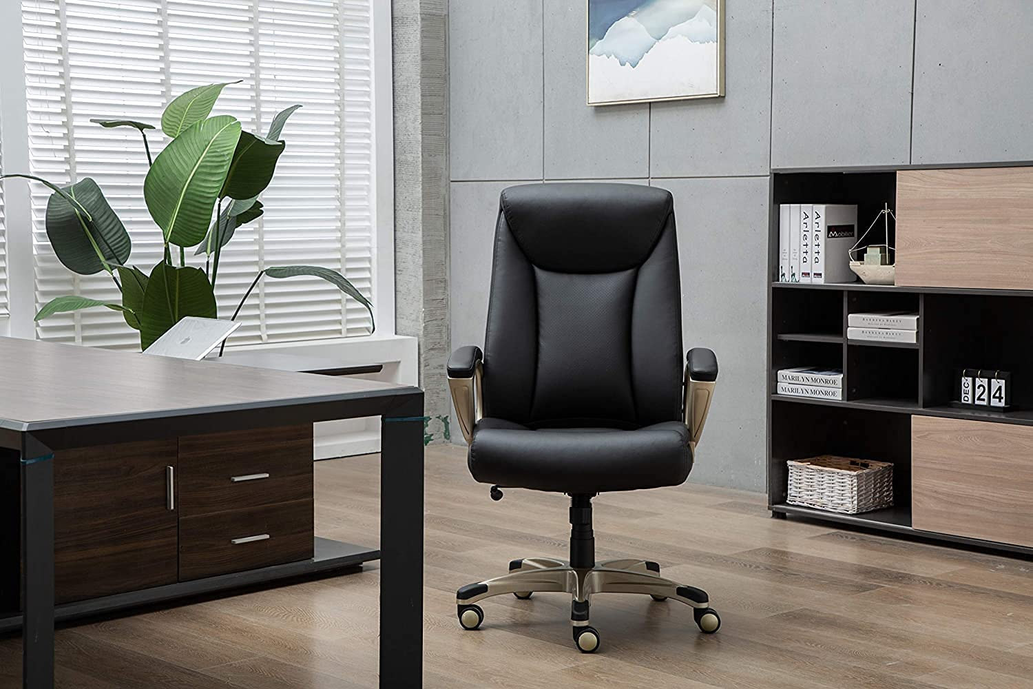 Bonded Leather Big and Wholesale Tall Desk Executive Computer Office Superior Chair