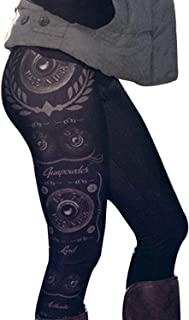 Gillberry Women Skinny Printed Stretchy Pants Leggings Christmas Clothes