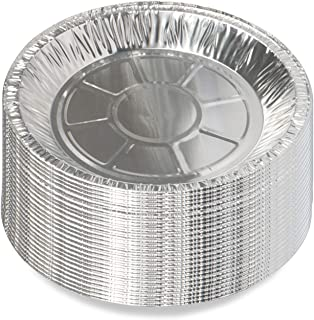 Lainrrew 25 Pack Pie Pans, Disposable Aluminum Foil Pie Tins Round Cake Tart Plates for Baking Cooking Storage Reheating