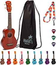 Hola! Music HM-21MG Soprano Ukulele Bundle with Canvas Tote Bag, Strap and Picks, Color..