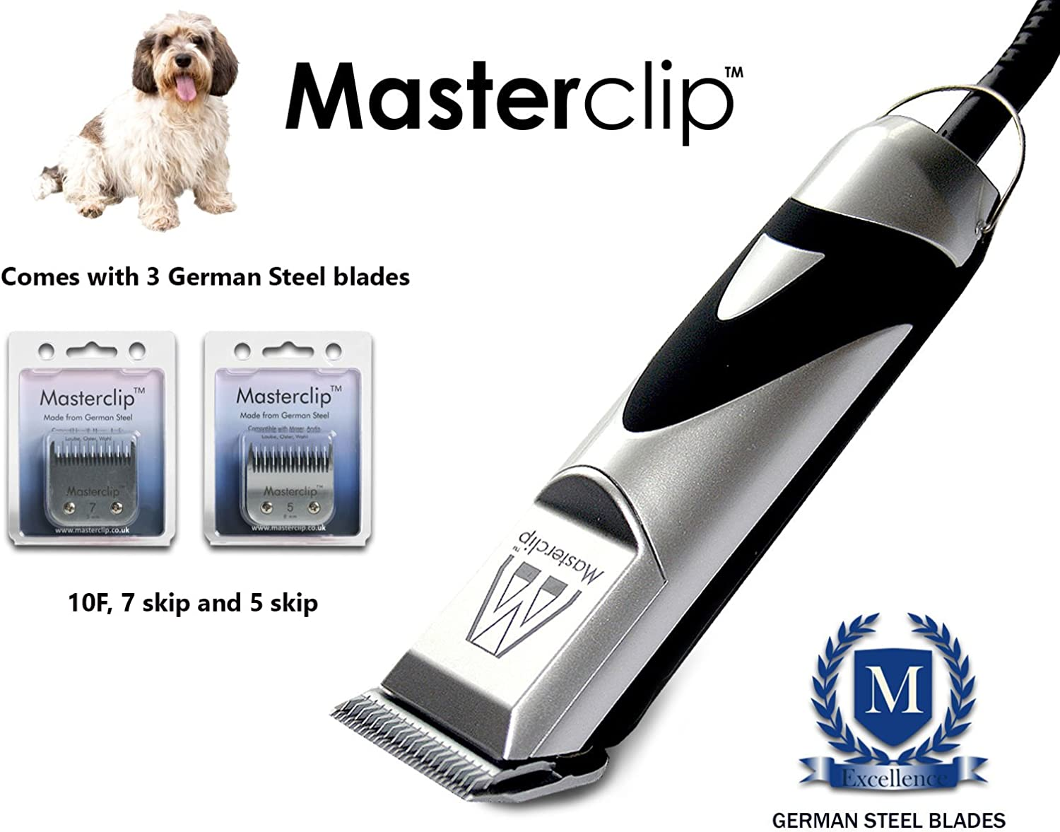 Masterclip Petite Griffon Vendeen Professional Dog Clippers Set Pet Grooming Clipper Trimmer Supplies