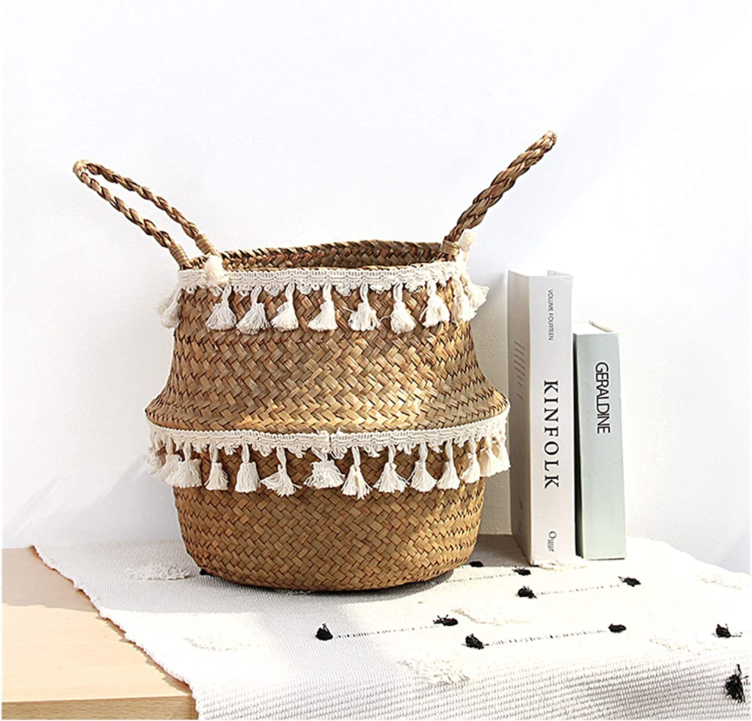 Storage Basket Courier shipping free Seagrass quality assurance Woven Plant Hangin Wicker