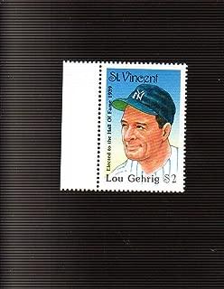 Lou Gehrig NEW YORK YANKEES 1992 St. Vincent $2 Hall of Fame Postage Stamp (194MP)