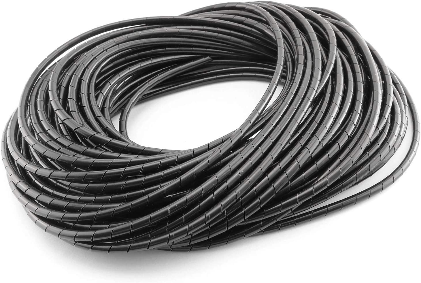 5mm 15m spiral cable wire wrap tube computer cord tidy management tool flexiH LD