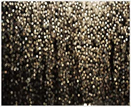 Allenjoy 10x8ft Durable Fabric Gold and Black Bokeh Spots Photography Backdrop Abstract  Not Glitter  Background for Selfie Birthday Party Pictures Photo Booth Graduation Prom Dance Vintage Studio