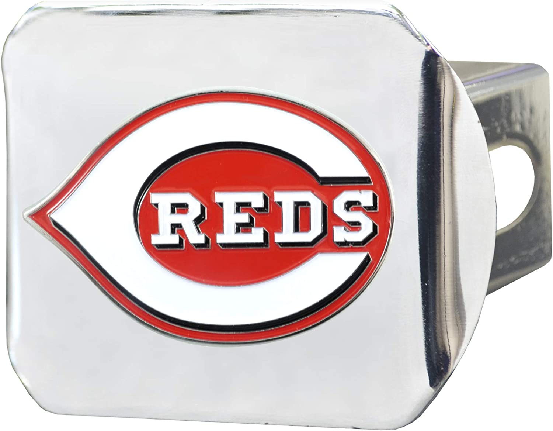 FANMATS 26561 MLB - Cincinnati Cover Chrome Large discharge sale Detroit Mall Color Reds Hitch