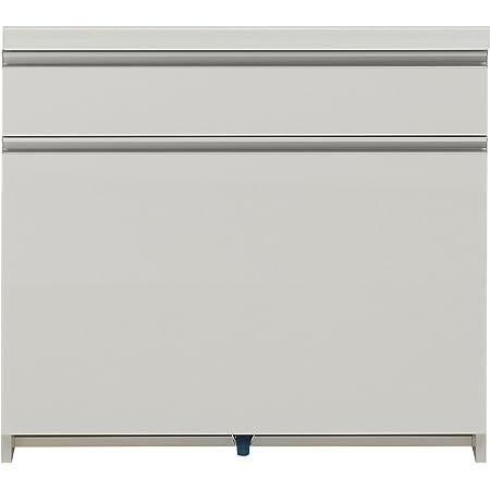 パモウナ 食器棚 幅80×高さ85×奥行45 日本製 WL-S801K下台