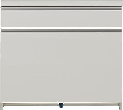 パモウナ 食器棚WL パールホワイト 幅80×高さ85×奥行50 日本製 WL-801K下台