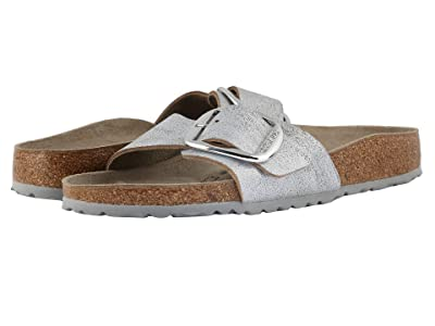 Birkenstock Madrid Big Buckle (Washed Metallic Blue) Women