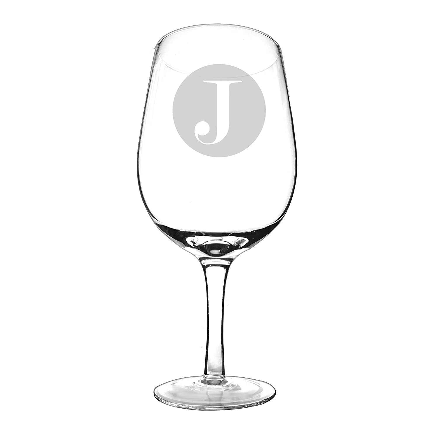 野菜シビックトランクCathy's Concepts Personalized XL Wine Glass, Letter J by Cathy's Concepts