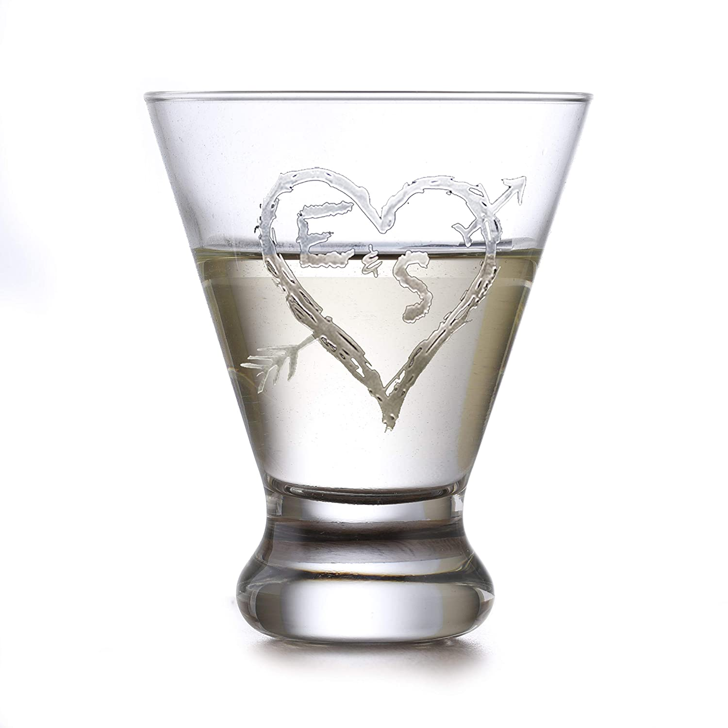 Engraved Al sold out. Personalized Martini Cosmopolitan Glasses Set 4 New sales - Of