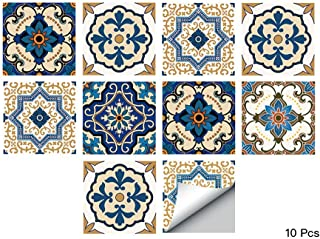 alwayspon Waterproof Vinyl Wall Tiles Sticker for Home Decor, Self-Adhesive Peel and Stick Backsplash Tile Decals for Kitchen Bathroom Decor, 6x6inch 10 Pcs