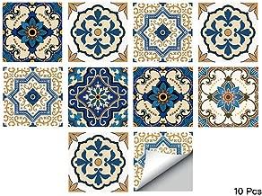 alwayspon Waterproof Vinyl Wall Tiles Sticker for Home Decor, Self-Adhesive Peel and Stick Backsplash Tile Decals for Kitchen Bathroom Decor, 6x6inch 10 Pcs