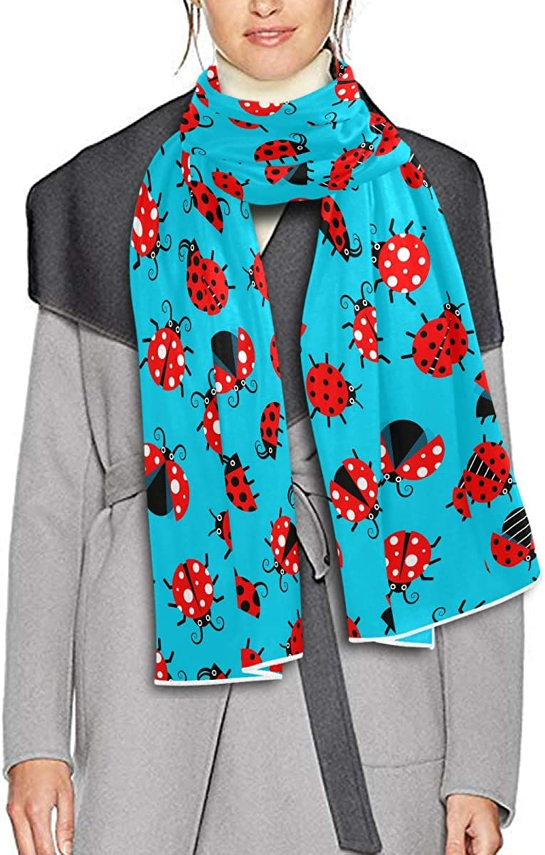 Scarf for Women and Men Ladybugs Blanket Shawl Scarves Wraps Soft warm Winter Oversized Scarves Lightweight