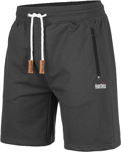 Mount Swiss © Short de Loisir Short Bermuda pour Homme Liam jusqu'à 6XL / Shorts Long/Jogging/Pantalons de survêtemen...