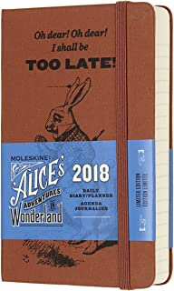 Moleskine Limited Edition Alice in Wonderland 12 Month 2018 Daily Planner, Hard Cover, Pocket (3.5
