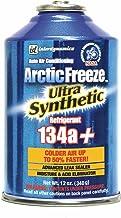 InterDynamics Arctic Freeze Car Air Conditioner Synthetic R134A Refrigerant, AC Recharge Kit, 12 Oz, AF-3