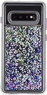 Case-Mate - Waterfall - Samsung Galaxy S10+ Glow in The Dark Liquid Glitter Case - Purple Glow