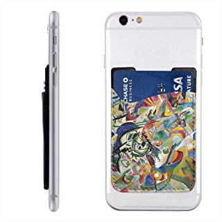 Famous Abstract Fine Art Painting of Composition VII by Wassily Kandinsky Cell Phone Stick On Card Wallet Sleeve,Credit Cards/ID,for Back of iPhone,Android and All Smartphones