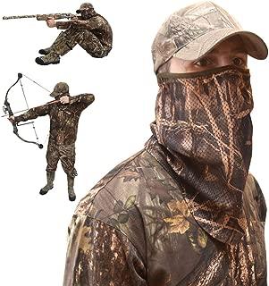 DecoyPro Camo Face Mask Half Mask – Camo Face Masks Hunting Mask – Turkey Hunting Face Mask – Bow Hunting Face Mask Mesh - Duck Hunting Face Mask – Camouflage Face Mask Hunting