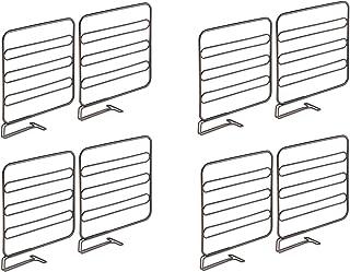 mDesign séparateur armoire pour la garde-robe (lot de 8) – système d'aménagement placard en métal pratique pour la garde-r...