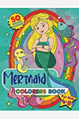 Mermaid Coloring Book: For Kids Ages 4-8, 50 Beautiful Coloring Pages (US Edition) Paperback