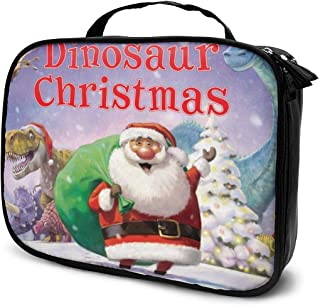 Cosmetic Bag Dinosaur Christmas Tree Santa Travel Makeup Bag Anti-wrinkle Cosmetic Case Multi-functional Storage Bag Large Capacity Makeup Brush Bags Travel Kit Organizer Women's Travel Bags