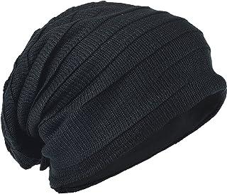 メンズ 大きいサイズのニット帽 ニットキャップ ゆるビーニー帽 オールシーズン ユニセックスB5001