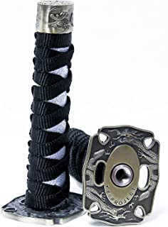 Kei Project Katana Samurai Sword Shift Knob Shifter Katana VIP Metal Weighted With Adapters Fits Most Cars (Black/White)