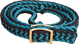 Southwestern Equine Braided Barrel Racing Reins - Flat w/Easy Grip Knots 8ft by