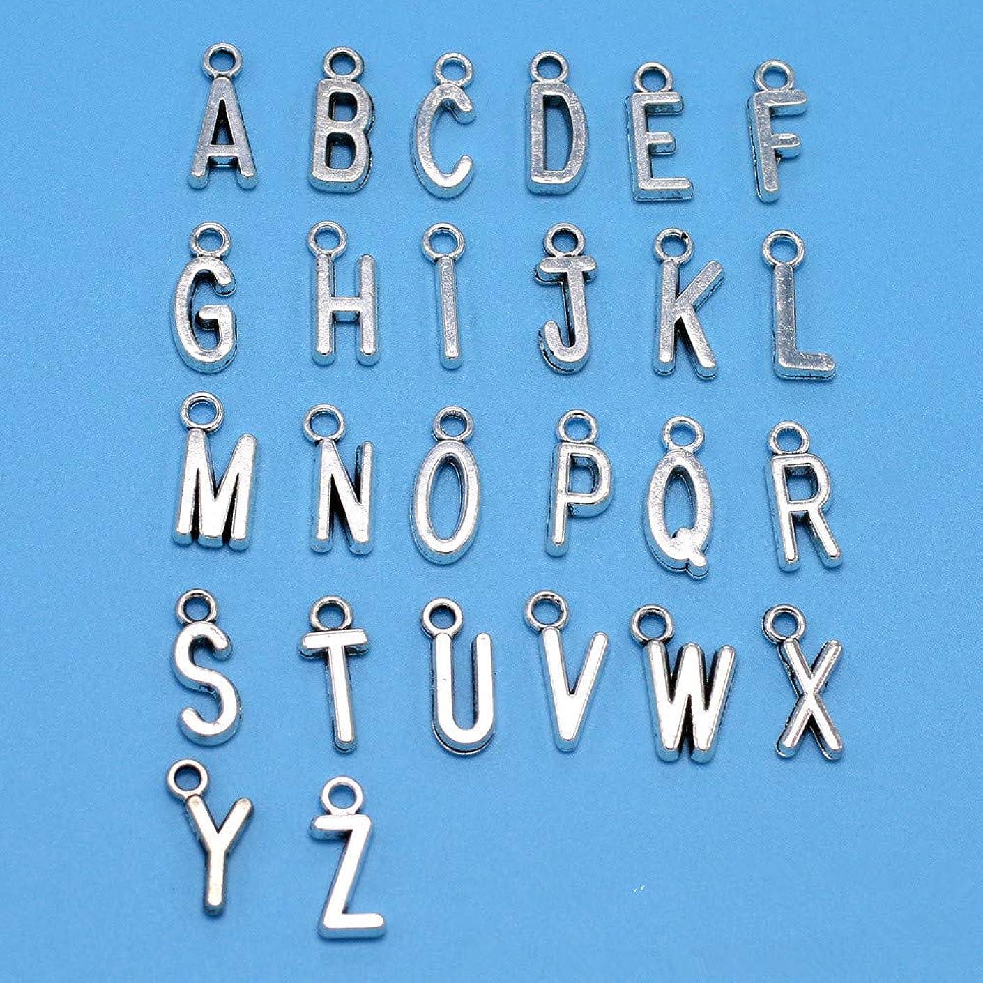 150pcs Mix Antique Silver ABC Letter/Alphabet Letter A-z Charms Alphabetic Pendant DIY Necklace Bracelet Jewelry Making