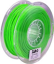 ZIRO 3D Printer Filament 1.75mm TPU Flexible Filament 0.8KG Spool, Dimensional Accuracy +/- 0.05mm, Green