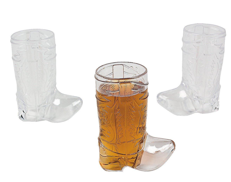 Plastic Mini Cowboy Boot Glasses (1 dozen)