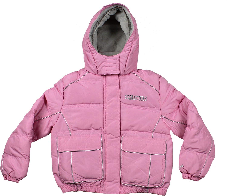 Ottawa Senators NHL Hockey Girl's Youth Winter Hooded Jacket in Pink - Large