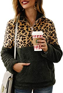 Best leopard fleece pullover Reviews